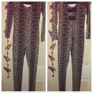 Leopard jumpsuit full length